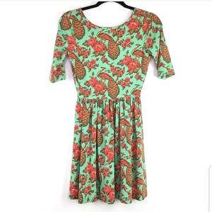 ASOS empire waist dress sz 4 short open back green